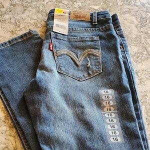 Levi 711 skinny jean size 16 girls NWT